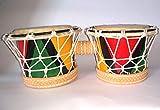 Instrumentos de percusión brasileños - Bongô de resina reciclada con cuerda - 28x13x10