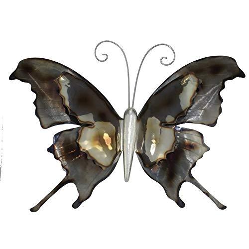 Wanddeko Schmetterling aus Metall Wandbild Metallschmetterling 44 cm groß Deko-Schmetterling