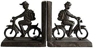 Cast Iron Bike Shaped bookends Antique Decorative cast Iron Book Stand