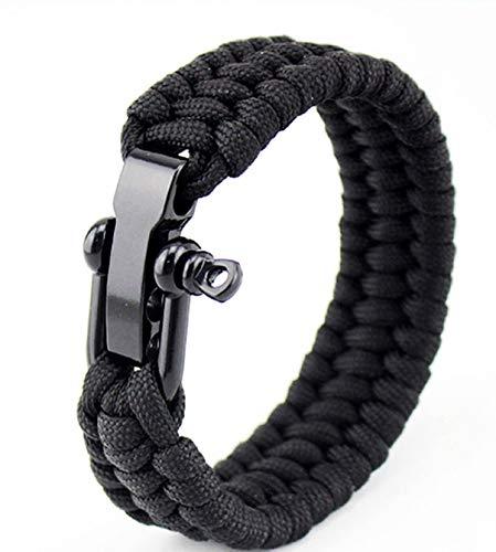 FHJZXDGHNXFGH-DE Taktische Paracord Regenschirm Seil Armband stahlschnalle Seil Paracord Armband einstellbar Outdoor überleben Armband