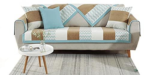 BEYRFCTA Funda Chaise Longue Acolchado,Sala de Estar Cubrir Sofa Sillon Protector Sofa Funda de sofá Antideslizante Funda Fundas de Asiento de sofá -A01_90 * 90cm