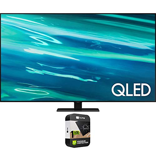 Samsung QN65Q80AAFXZA 65 Inch QLED 4K UHD Smart TV 2021 Bundle with Premium 1 Year Extended Protection Plan