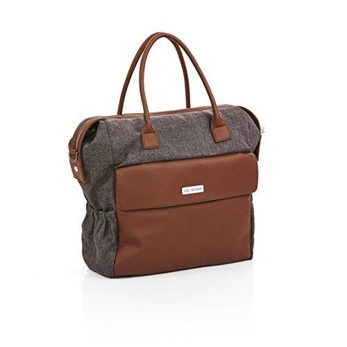 ABC Design–Bolsa cambiador Shopper Jetset de varios colores moda con puntas–Accesorios Bolsa Compresi en el precio nogal