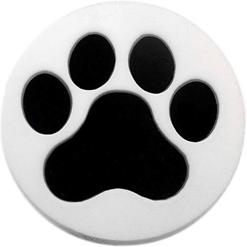 White Paw Print Rubber Charm for Wristbands and Shoes