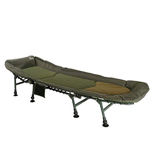 Lucx® Bedchair / 8 Bein Angelliege/Karpfenliege/Gartenliege, 8 Beine Lieg, XL, Maße (L/B/H): 210 x 80 x 33 cm