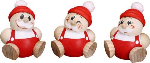 Rudolphs Schatzkiste Tischdekoration Cool Man Figuren Nikolaus 3er Satz HxBxT = 6x4x4cm NEU Seiffen Erzgebirge Holzfigur Weihnachten Fensterschmuck Spielzeug Deko Weihnachtsfigur Figuren