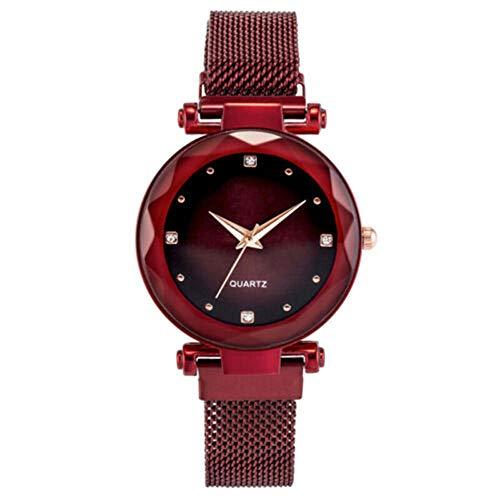 YZCKW Reloj De Pulsera Casual De Cuarzo Analógico para Mujer Starry Sky...