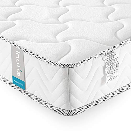 Twin XL Mattress Memory Foam 6 Inch, Inofia Cool Memory Foam Bed Mattress in a Box, CertiPUR-US Certified, Pressure Relief Comfy Body Support, No-Risk 100 Night Trial