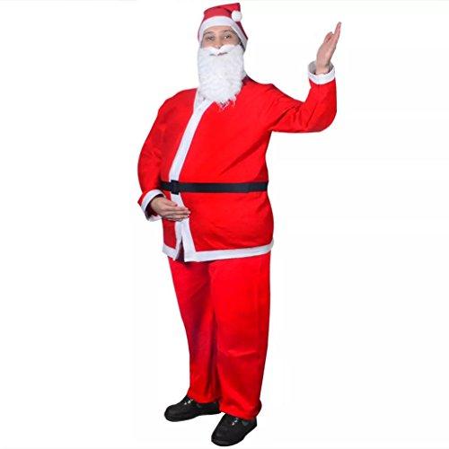 vidaXL Disfraz para Navidad de Papa Noél Rojo Traje Navideño de Santa Claus