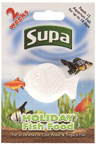 Supa Aquarium Holiday Fish Food, 14 Days, Pack of 6, Easy To Use, Slow Releasing Food Block For Feeding Cold Water & Tropical Aquarium Fish