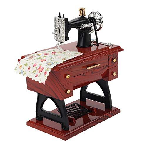 Kacniohen La Caja de música de Costura, Vintage Mini máquina de Coser de la Caja de música mecánica del Regalo de cumpleaños de los Regalos Decor