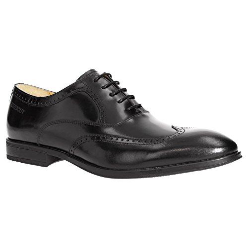 Zweigut® smuck #273 Herren Business Half Brogue Oxford Schuh Leder Sneaker-Komfort Bequemschuh, Schuhgröße:40, Farbe:schwarz