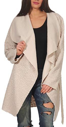 malito dames wollen mantel kort | Bouclé Wool | Trenchcoat met riem | zachte Dufflecoat | Parka - Jas 9319