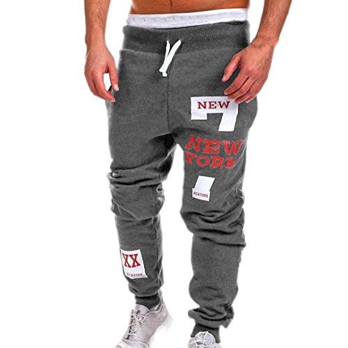 KPILP Herren Mode Herbst Hosen Übergröße Männer Hosen Sportbekleidung Draußen Freizeithosen Jogginghose(Dunkelgrau, M
