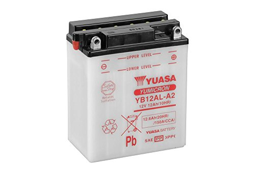 Batería Yuasa yb12al de A2, 12V/12Ah (tamaño: 136x 82x 162) para BMW F650/funduro/ST Strada Diseño Año 1996