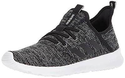 adidas Women's Cloudfoam Pure Running Shoe, Black/Black/White, 11