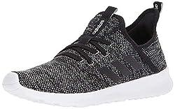cheap Adidas Cloud Foam Pure Running Shoes, Black / Black / White, 10 Medium US