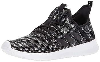 adidas womens Cloudfoam Pure Running Shoe Black/Black/White 6.5 US