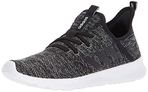 adidas Women's Cloud foam Pure Running Shoe, black/black/white, 7 Medium US