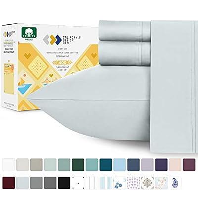 California Design Den 400 Thread Count Sheet Set, 100% Long-Staple Cotton …
