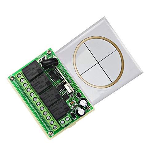 KAIBINY YY 4CH Hilos Universal Relay RF Interruptor de Control Remoto (4 Botones)