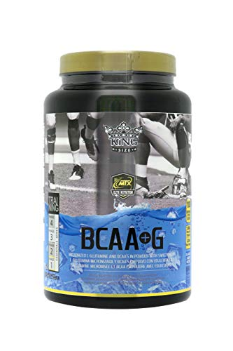 MTX nutrition BCAA'S + G R.GOLD Gourmet [1,0 Kg] IceBlue (Tropical) - Aminoácidos PREMIUM de Cadena Ramificada (50%) + L- Glutamina (50%) KIOWA_Quality en polvo aromatizados.