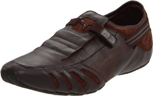 PUMA Men's Vedano Leather Slip-On Shoe,Black/Black/Ribbon Red,12US/ D US