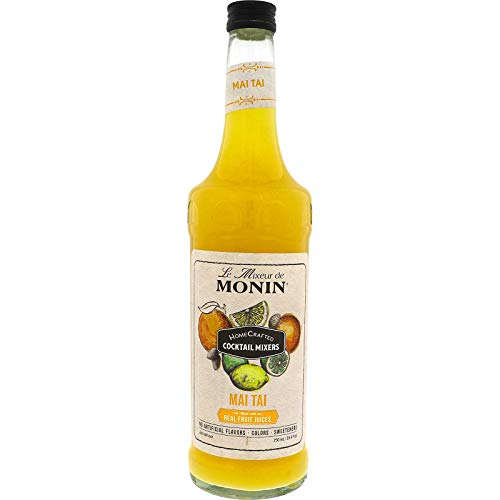 Monin - HomeCrafted Mai Tai Cocktail Mixer, Ready-to-Use Drink Mix, Tropical Blend of Pineapple & Orange, Made with Natural Flavors & Real Fruit Juice, DIY Cocktails, Just Add Rum, Vegan (750 ml)