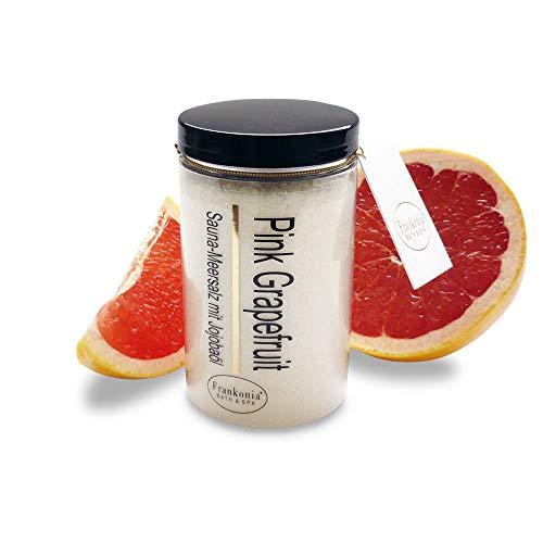 Sauna Salz Peeling – Pink Grapefruit 400g - Meersalz m. Jojobaöl Vitamin E Body Scrub – Dusch- und Körperpeeling für alle Hauttypen – vegan – ohne Parabene