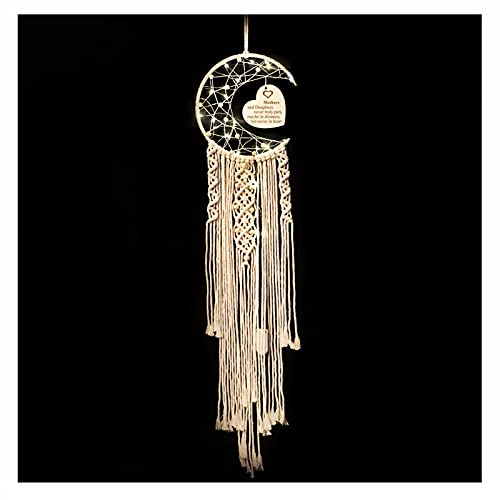 WIFTREY Moon Dream Catcher Gifts for Mom, Beige Macrame Wall Hanging...