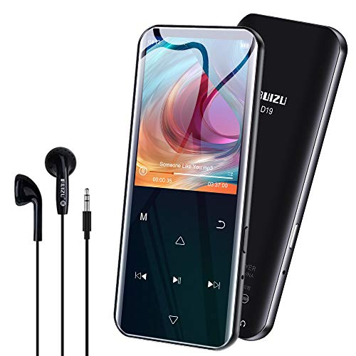 Lettore MP3 Bluetooth 5.0 32GB RUIZU 2.4'' Schermo Lettore Musicale Portatile HIFI Lossless con Radio FM Registratore Vocale Pedometro Supporto fino a 128GB