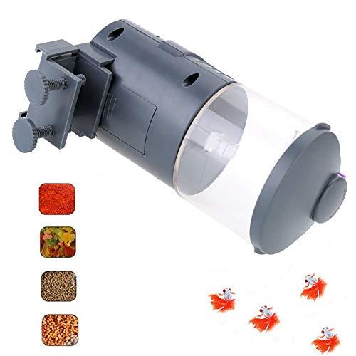 Cacoffay Inteligente Sincronización Automático Pez Alimentador, Acuario Tanque Alimentador Vacaciones Auto Pez Alimentador De Pilas Tortuga, Oro Pez Fin de Semana Vacaciones Pez Comida Dispensadores