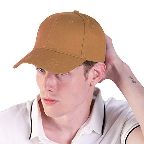 LIVACASA Baseball Cap Herren Verstellbar Basecap Luftlöchern Sonnenschutz Damen Baseballkappe Cap Unisex Mütze Baumwolle Cappy für Sport Reisen Draußen Braun