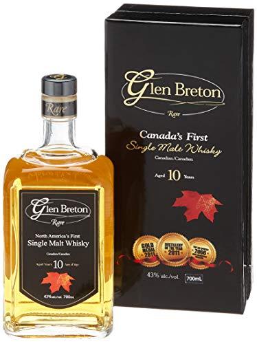 Glen Breton Rare 10 Years Old Canada's First Single Malt Whisky mit Geschenkverpackung  (1 x 0.7 l)