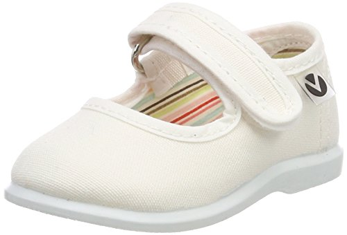 victoria Unisex Baby Mercedes Velcro Lona Sneaker, Weiß (Blanco), 20 EU