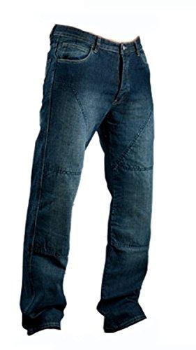 Juicy Trendz Hombre Motocicleta Pantalones Moto Pantalón Mezclilla Jeans Con Protección Aramida Azul W36-L32
