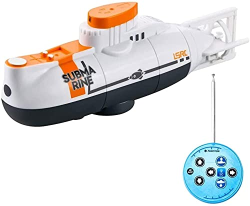 Control Remoto Mini Submarino, Simulación Modelo Submarino Nuclear para Piscinas y Lagos, Barcos RC para niños y niñas, Juguetes de Tanque de Pescado, Regalos Infantiles (Color: Azul)