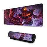 Nasus League Legends Large Gaming Mouse Pad with Water-Resistant Long Foldable Keyboard Mat for Work Gaming