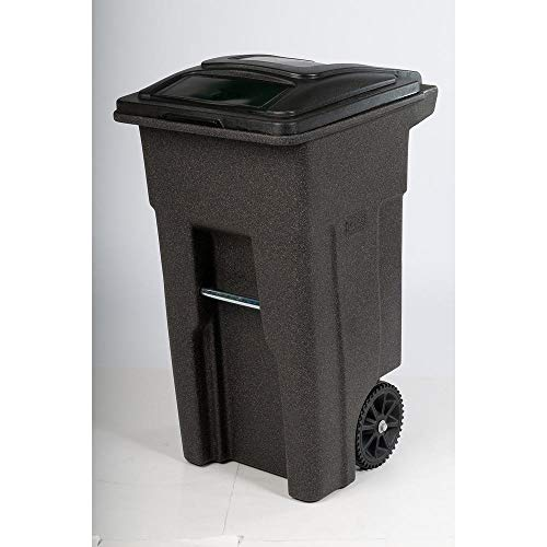 Toter 32 Gal. Brownstone Trash Can with Wheels and Lid
