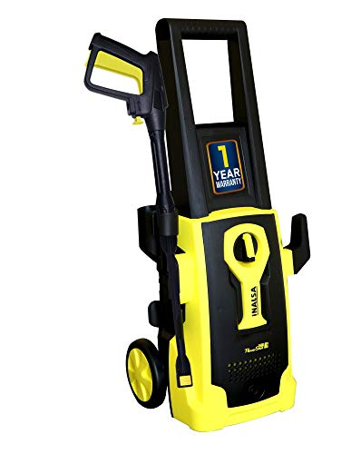 Inalsa High Pressure Washer PowerShot-1600W|100% Pure Copper Motor|Pressure-135 Bar, Max Flow-408 l/h, Working Radius +11 m,5M High Pressure Hose Pipe for Cleaning Homes, Cars, Garden, (Yellow/Black)