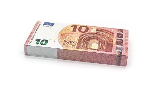 Cashbricks 100 x €10 Euro Spielgeld Scheine - verkleinert - 75% Größe