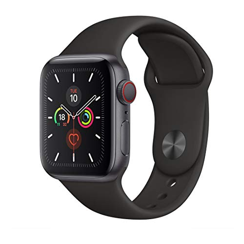 Apple Watch Series 5 40mm Space Grey AL Black Sport Band (GPS+Cell)...