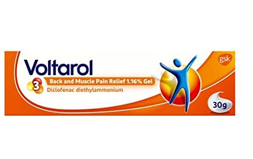 Voltarol Gel 30g Eze Emulgel Local Symptomatic Relife Inflammation Rheumatic Muscular Pain Sprains Strains Bruises Body Chemicals Cause Swelling