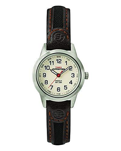 Timex Expedition Field Mini - Reloj para Mujer con correa de piel, 26 mm T41181