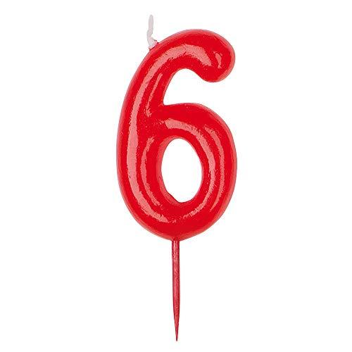 Dekora - vela de cumpleaños numero 6.