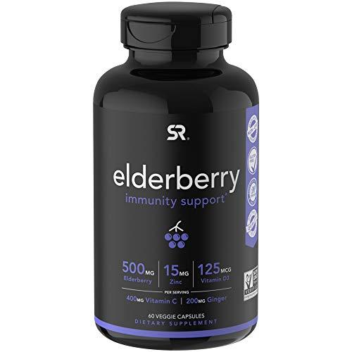 Elderberry Capsules with Vitamin D3, Zinc & Vitamin C | Women & Men