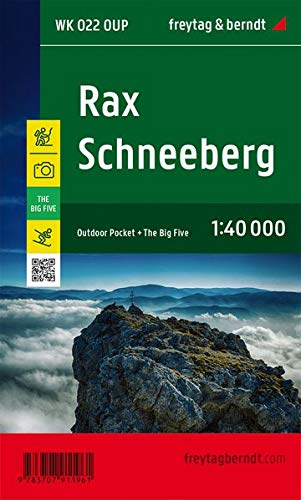 Rax - Schneeberg, Outdoor Pocket, Wanderkarte 1:40.000, freytag & berndt Wander-Rad-Freizeitkarten