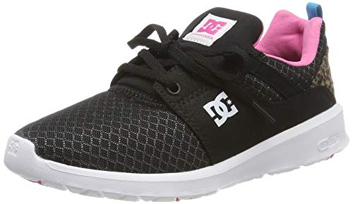 DC Shoes Damen Heathrow Tx Se - Shoes for Women Sneaker, Black/pink/Black, 40 EU