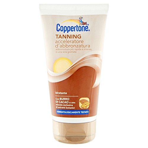 Coppertone, Tanning Acceleratore d'Abbronzatura, Resistente all'Acqua, con Burro di Cacao e Agenti...