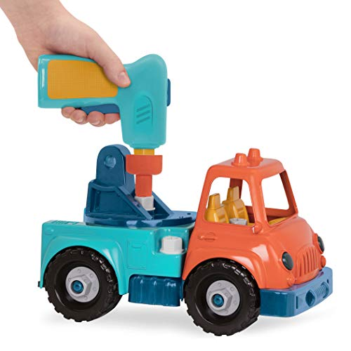 Wonder Wheels by Battat – Take-Apart Crane Truck – Toy Crane Truck with Drill for Kids Aged 3 Years & Up (31Pc)